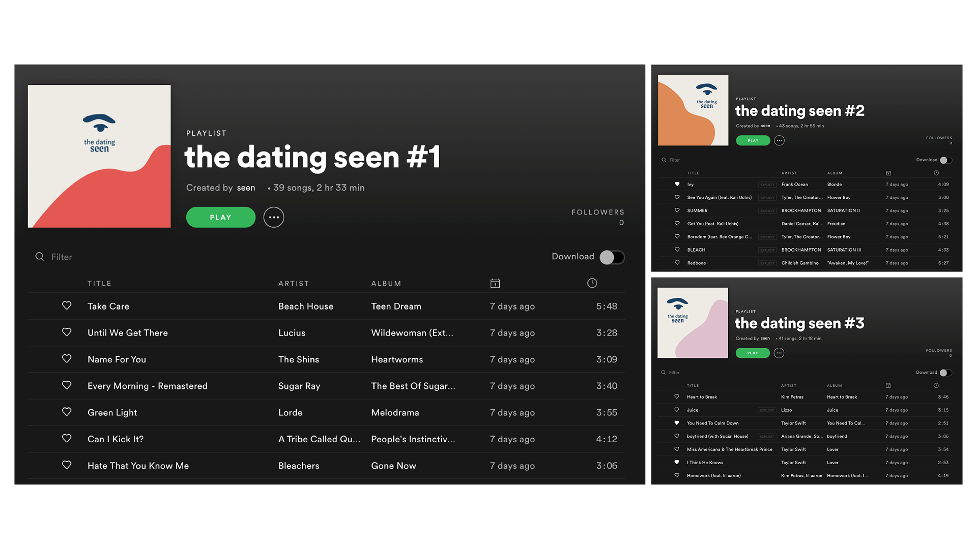 Curated Playlists