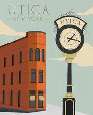 Art Deco Utica Poster