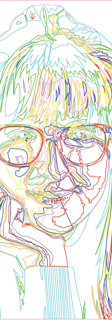 Trish Vector Portrait (Outlines)