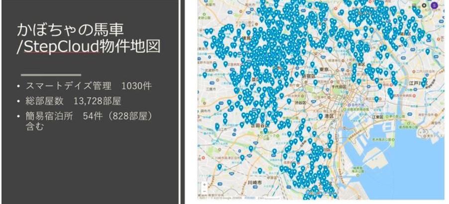 特別記事:2014年から4年間でスマートデイズ社が東京都内に建てた物件の場所を示した地図