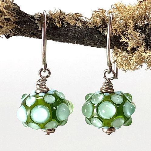 Bubbles on Transparent Light Green