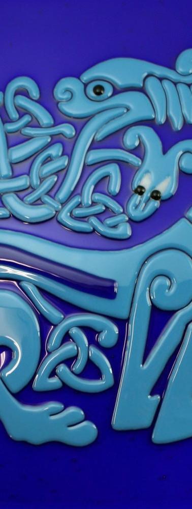Lion & Snake tile