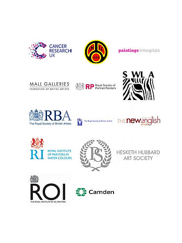 List of clientele partnering logo's including Royal Art Societies, public art collections & National Museums