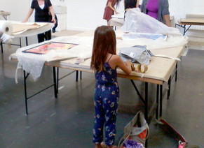 Art wrapping - Jerwood Drawing Prize