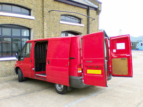 Artists with Transit Van Vehicle Dimensions at Trinity Bouy Wharf, Poplar E14