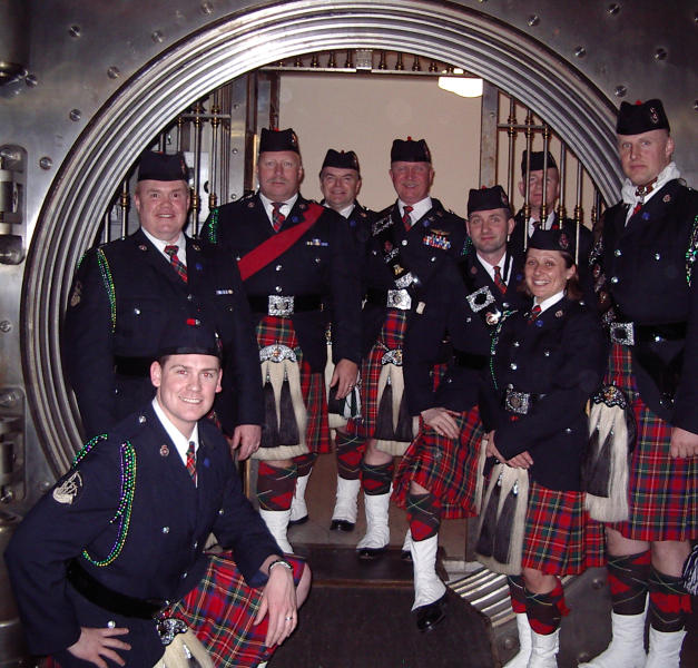 Band inside the Metals Bank safe in 2006