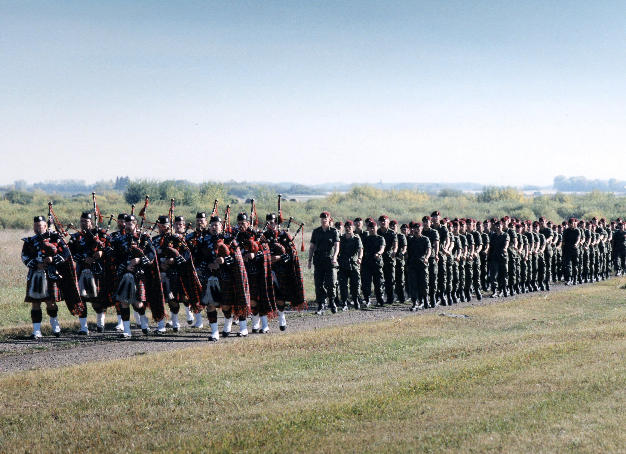 Band with PPCLI in Sept. '95