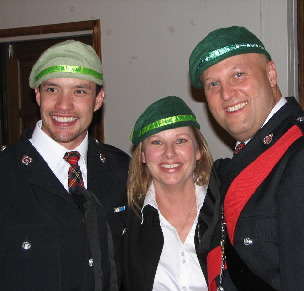 Jonathan & Lonnie with Jana from the Friends of the Pipers
