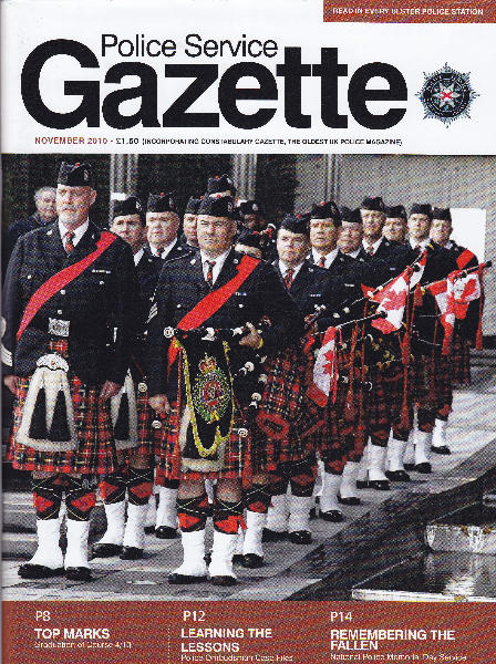 Shortly after our trip the band graced the cover of the Police Service Gazette