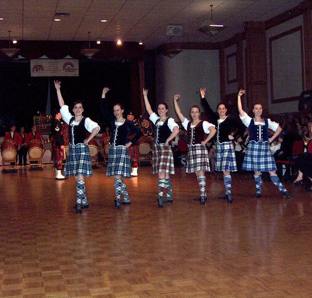 Highland dancers entertaining