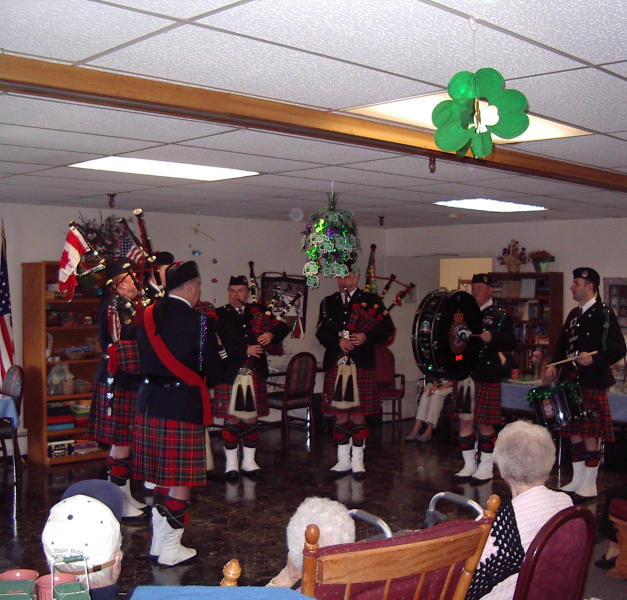 Playing at a Nursing Home in Butte in 2006