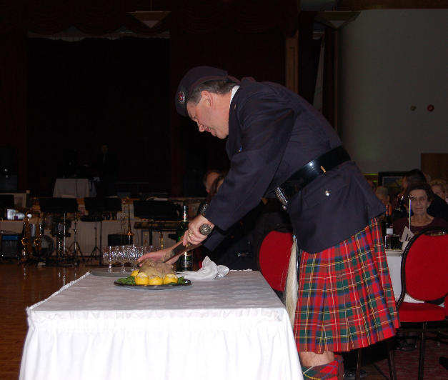 """The address """"To a Haggis"""" begins"""