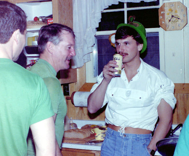 1984 in Gary's kitchen for corned beef & cabbage