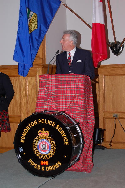 Chief Mike Boyd addresses the audience in 2007