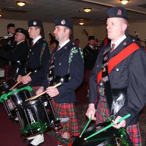 Drummers perform at the War Bonnet