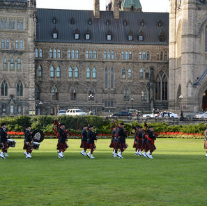 Playing in front of Parliament Hill for the Sunset Ceremony