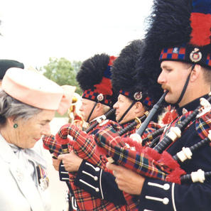 Countess Mountbatten inspecting band (Cst. Bawn) in '94