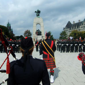 Re-dedication at the War Memorial