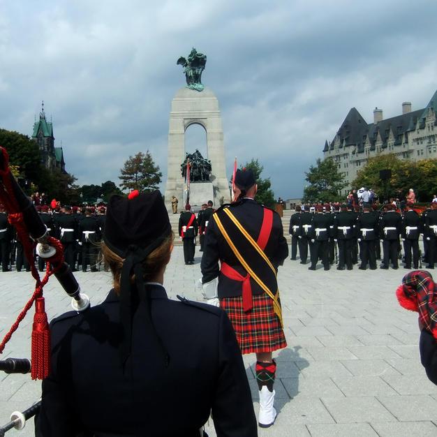 Re-dedication at the War Memorial