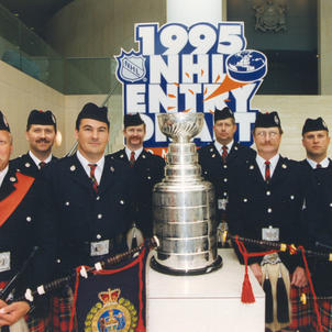 Mini Band playing at the NHL Entry Draft in 1995