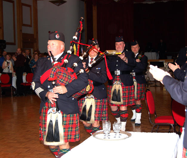 PM McKee pipes in the Haggis in 2007