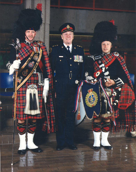 DM Paddy Bawn, Band Officer D/Chief Jim Rodger and PM James McKee