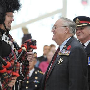 Inspection by the Honourable Donald S. Ethell, Lieutenant Governor of Alberta and Chief Rod Knecht