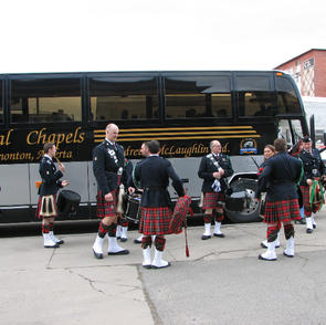 Off the bus for another performance