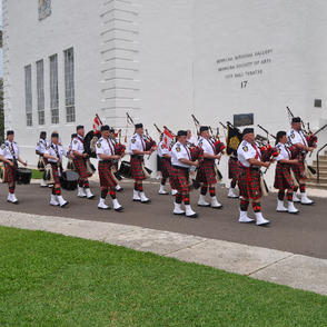 Marching to Hamilton City Hall