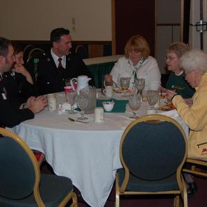 Lunch at the War Bonnet Hotel
