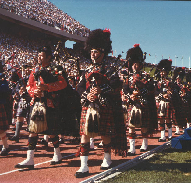 Commonwealth Games in 1978 with the Edmonton Transit Pipe Band