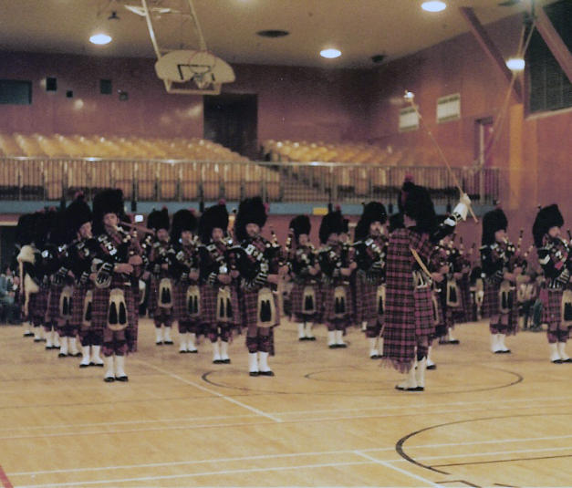 On parade in the recreation center, Inuvik, NWT, July 1983