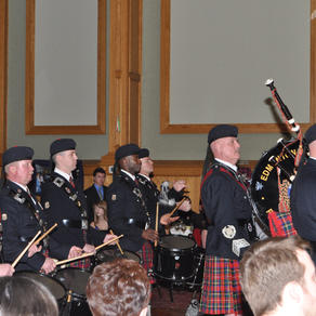 The band performs