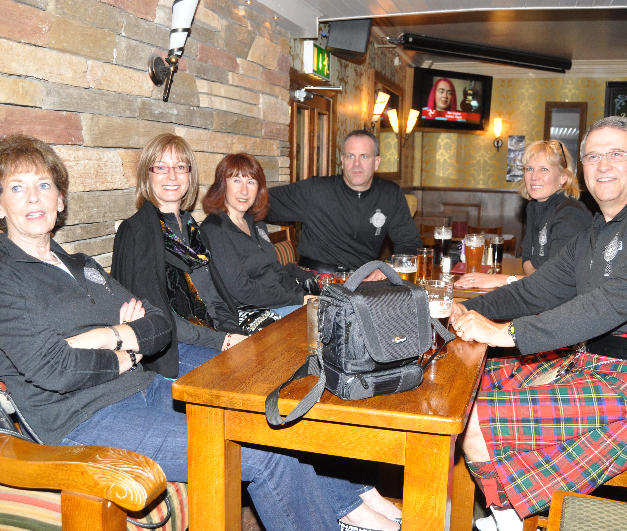 Relaxing at Pat's Bar in Enniskillen, County Fermanagh, prior to entertaining the crowd.
