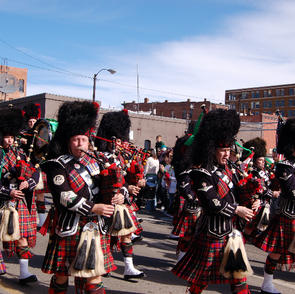 Marching in the St. Patrick's Day Parade 2007