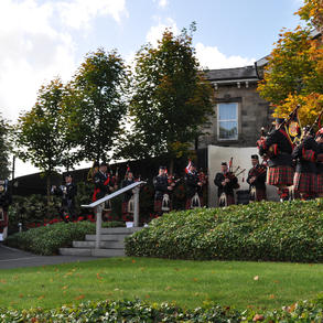Playing in the Royal Ulster Constabulary George Cross Garden