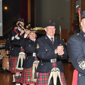 Piping in the haggis in 2011