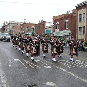 St. Patrick's day 2005 (no feather bonnets because of snow) Photo thanks to Mike Patterson of Butte