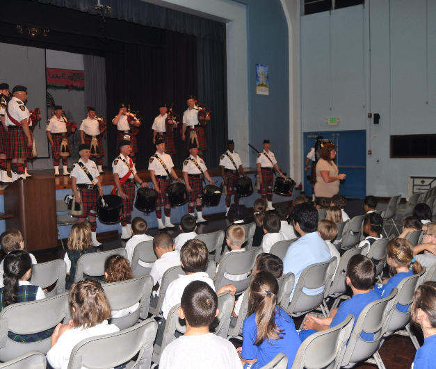 Playing for the students at Mount Saint Agnes Academy, Hamilton, Bermuda