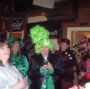 Locals celebrating St. Patrick's Day