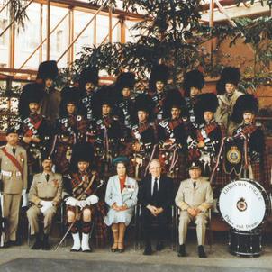 Loyal Edmonton Regiment Badge Presentation with Countess Mountbatten in 1990