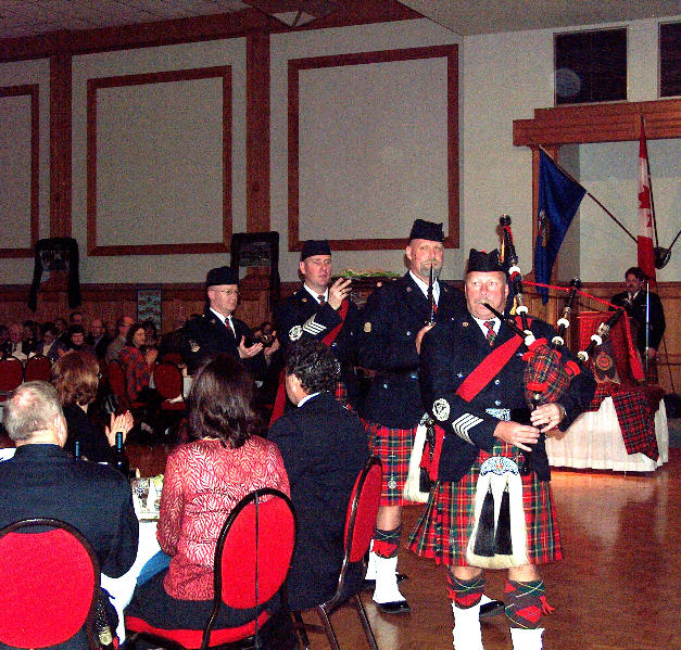 Piping the haggis in 2006