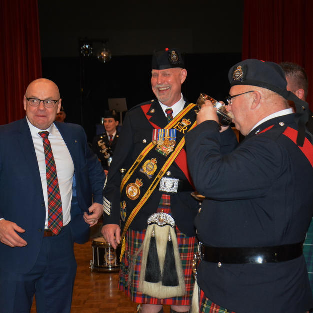 Quaich ceremony to conclude the change of command