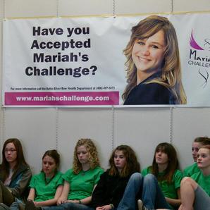 Playing at Mariah's Challenge