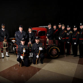 Edmonton Police Foundation Gala with members of the Edmonton Fire Department