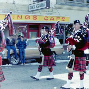 1984 St. Patrick's Day Parade, left to right - McKee, Quail, MacEachern, Jardine