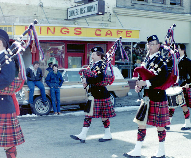 1984 St. Patrick's Day Parade, left to right - McKee, Quail, MacEachern, Jardine