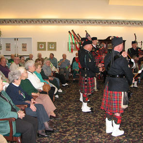 Entertaining seniors at Waterford Assisted Living residence