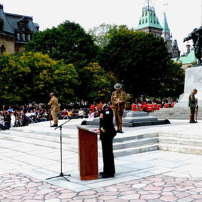 Re-dedication at War Memorial