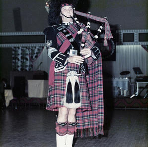 P/M David Scott playing for the reunion of the Canadian/American Special Forces Brigade, (The Devil's Brigade) 1976.